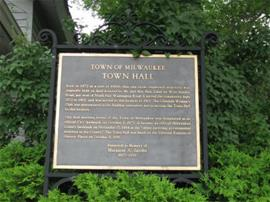 Historical plaque town hall
